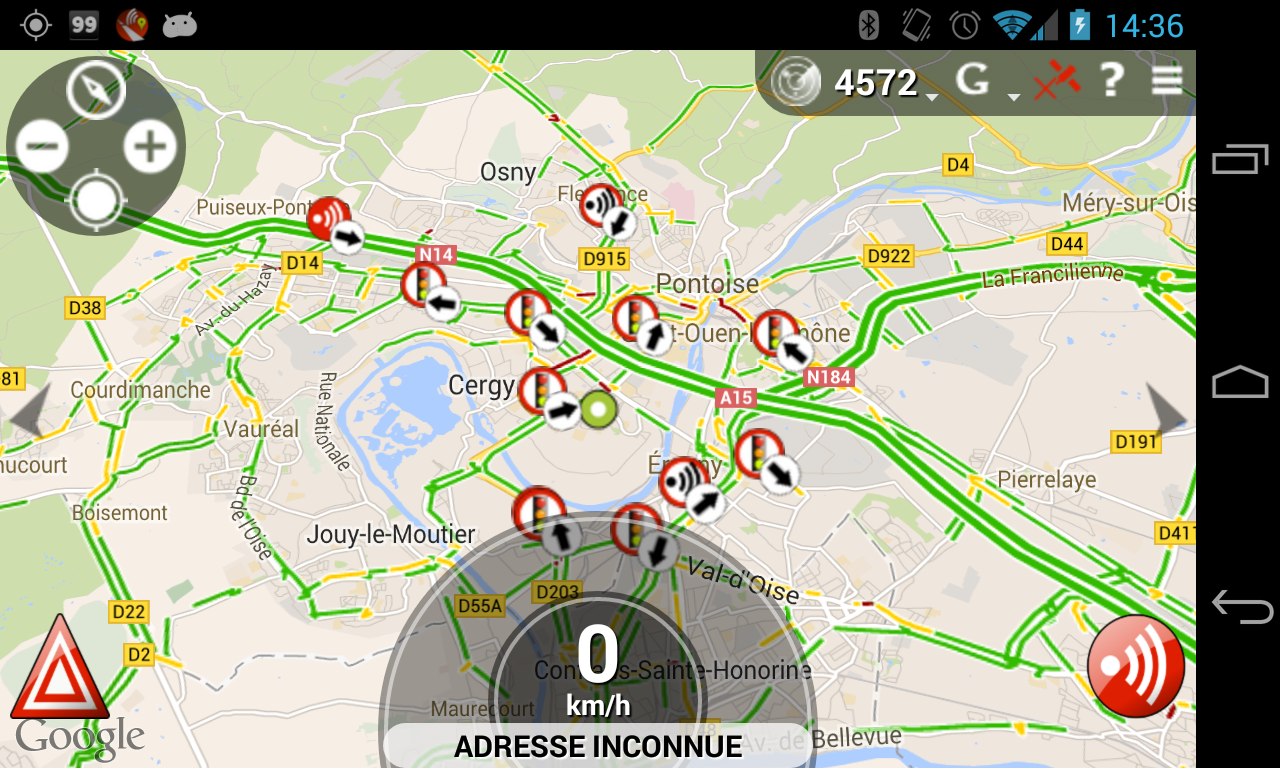 carte radar fixe gps