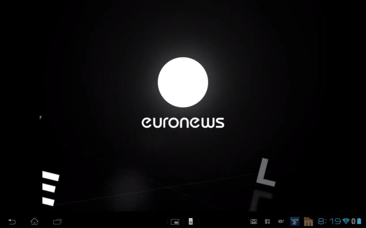 Capture d'écran de EuroNews Live
