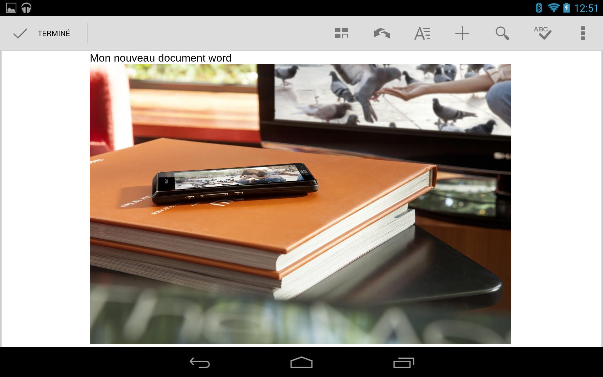 Création d'un document Word sur Android