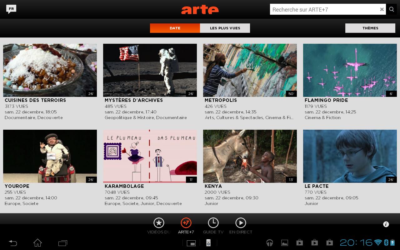 Application Arte pour Android