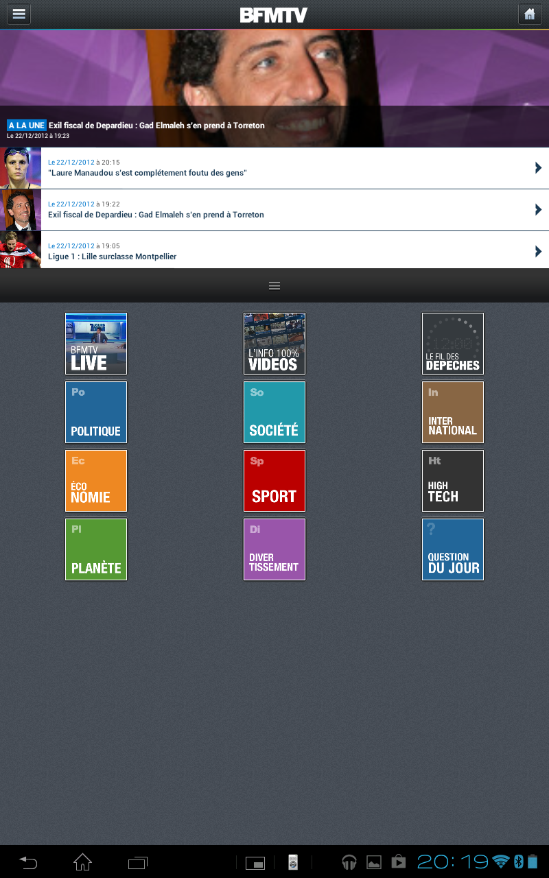 BFM TV pour Android