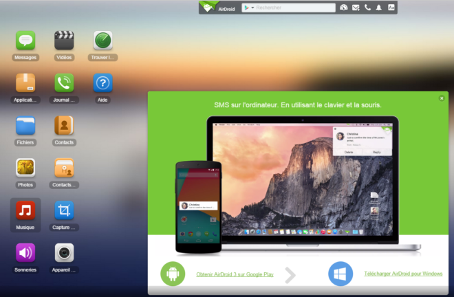interface airdroid