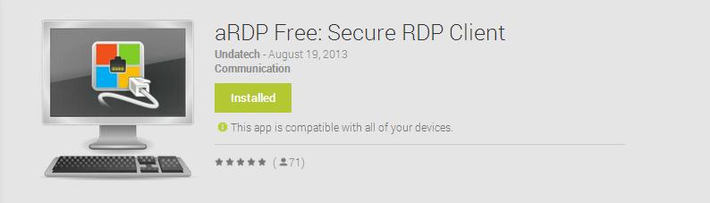 Un client RDP gratuit pour Android
