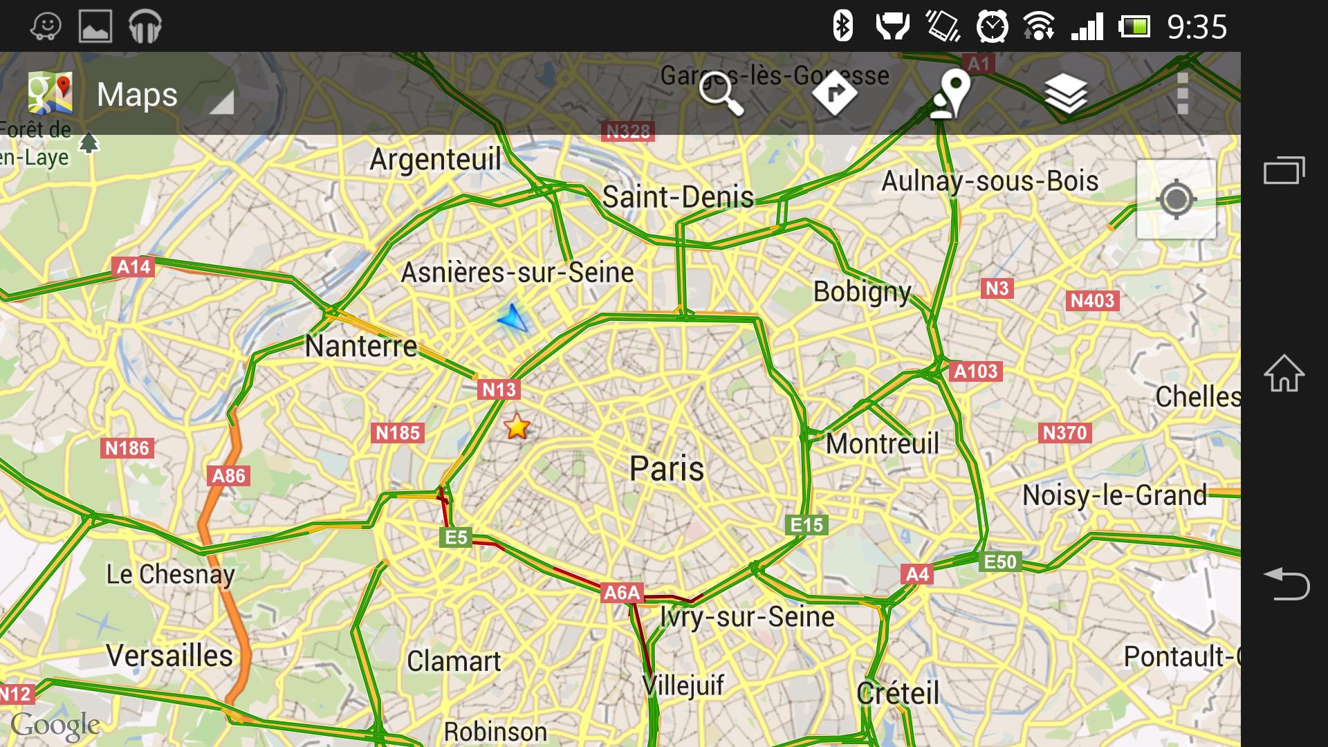 Affichage des bouchons sur Google Maps