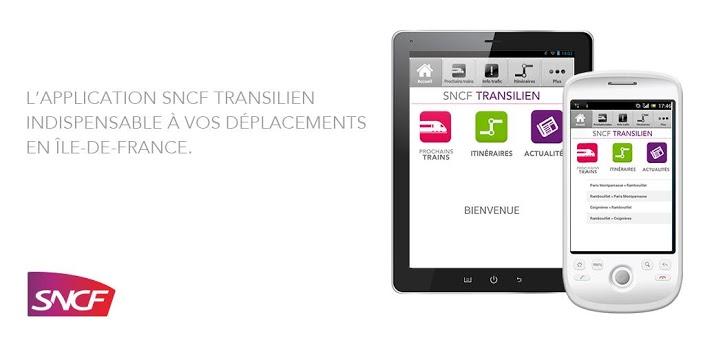 SNCF Transilien pour tablettes et smartphone
