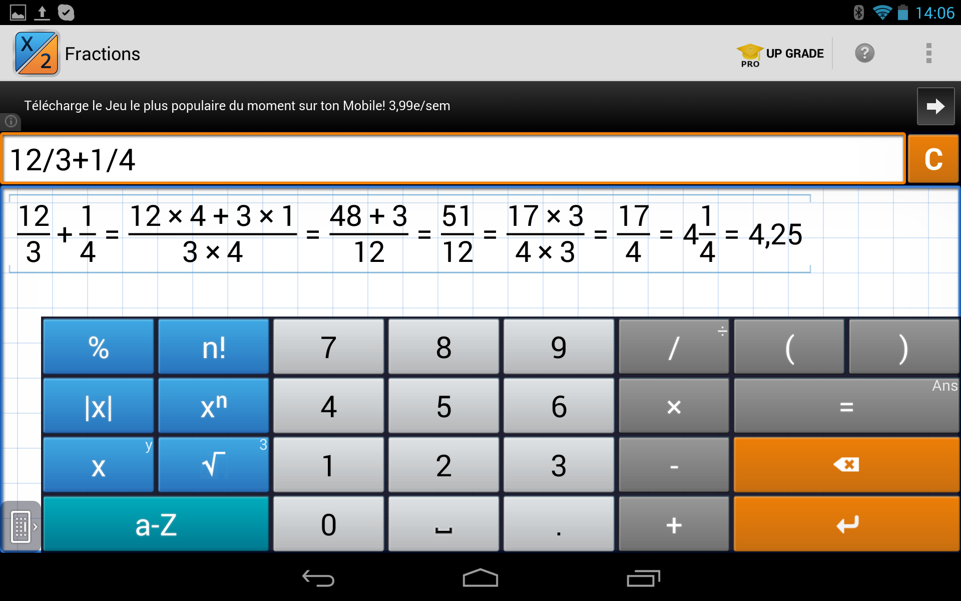 calculatrice scientifique pour android