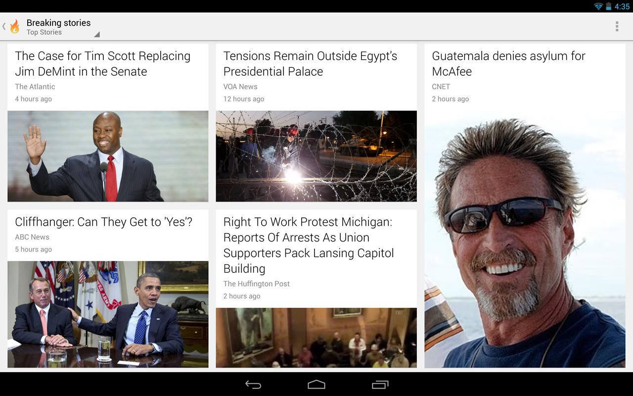 Presse sur smartphone et tablette les meilleures applis