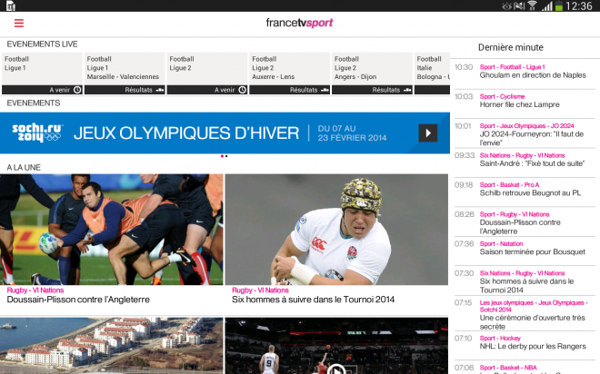 France TV Sport (Android, iOS)