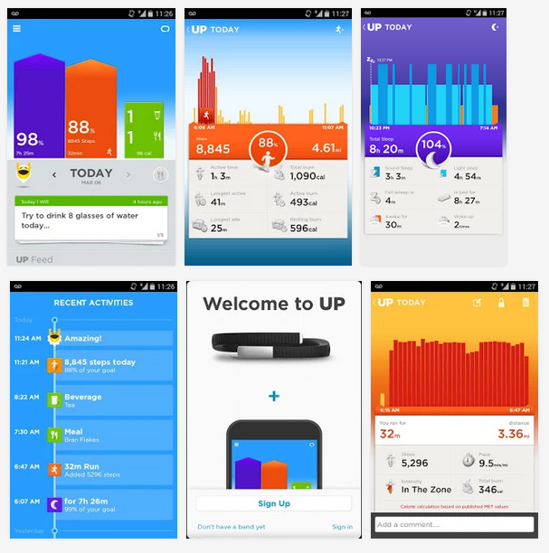 Jawbone Up24 Applications