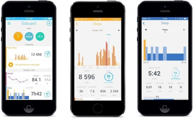 Withings Pulse 02 - Application Android iOS