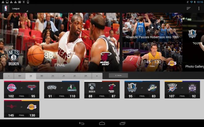 Matchs de la NBA sur smartphone, tablette ou TV