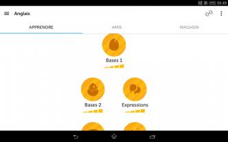 Unités d'apprentissage Duolingo