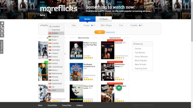 MoreFlixks - Le catalogue de Netflix dans tous les pays
