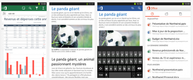 Office Mobile (Android, iOS, Windows Phone)
