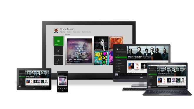 XBox Music (Android, Windows Phone, iOS, Web)