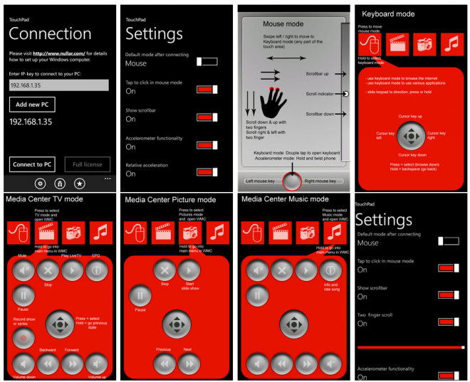 TouchPad Free pour Windows Phone