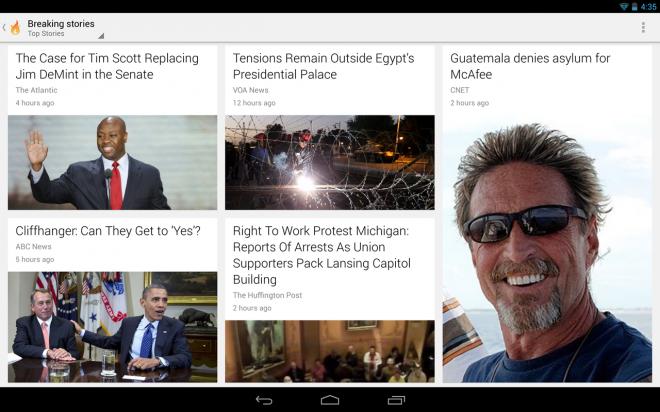 Google Flux d'Actu Android